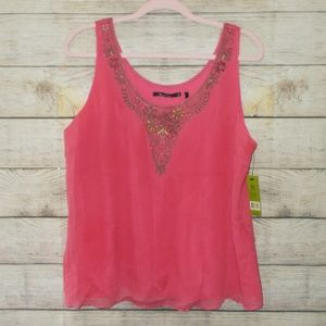 NWT Nic + Zoe Silk Tank Top Size Extra Large
